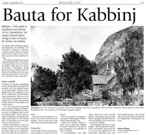 Fra artikkelen i Åndalsnes Avis 3. september 2013.