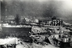 Ruiner etter bombingen av Åndalsnes april 1940